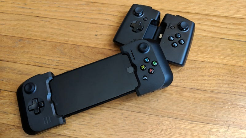 The Gamevice comes in many varieties for different phones and tablets, and the phone versions fold up nicely for portability.
