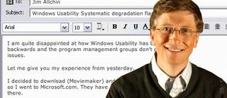 Illustration for article titled Classic Clips: Bill Gates Chews Out Microsoft Over XP
