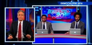 Jon Stewart; Al Madrigal and Wyatt Cenac, The Daily Show With Jon Stewart (Comedy Central)