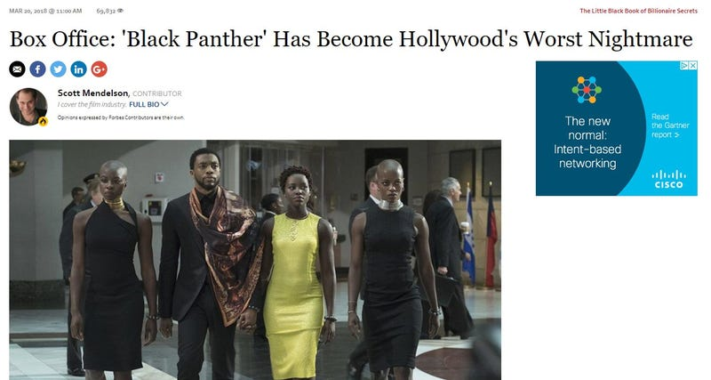 Illustration for article titled White Writer Calls Black Panther 'Hollywood's Worst Nightmare,' Blames It for White People's Problems
