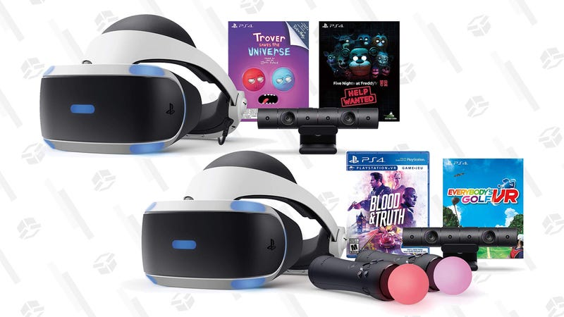 PSVR Bundles (Trover Saves the Universe and Five Nights at Freddy's) and (Blood and Truth and Everybody's Golf VR)