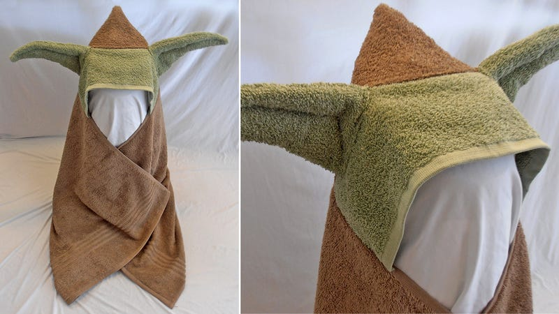 Illustration for article titled Even the Emperor Would Find This Infant Yoda Bath Towel Adorable