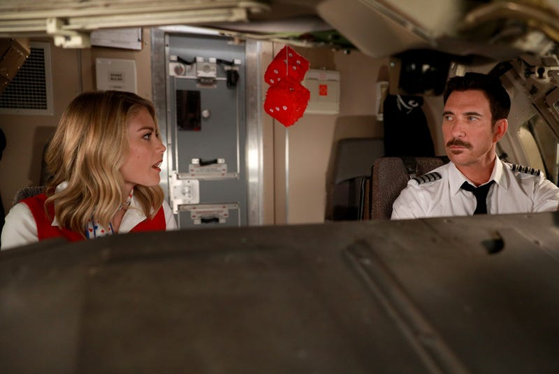 Kim Matula (left) and Dylan McDermott in LA To Vegas (Photo: Fox)