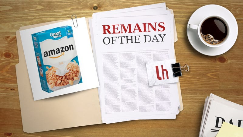 Illustration for article titled Remains of the Day: Amazon to Sell Their Own Brand of Snacks and Household Items