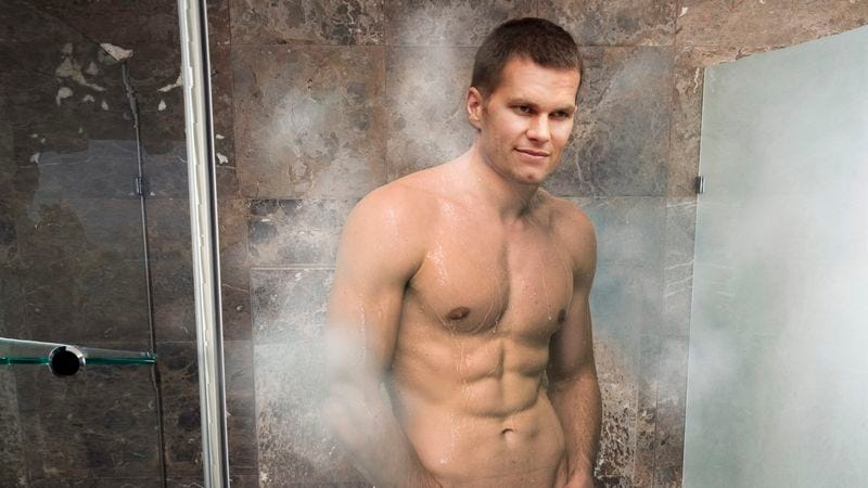 Illustration for article titled Naked, Dripping Wet Tom Brady Thrilled By Judge's Decision To Overturn Suspension, Imagines Judge