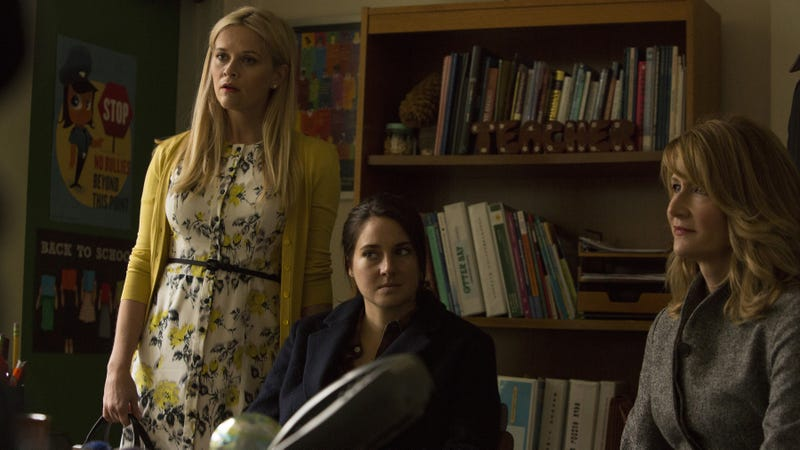 Reese Witherspoon, Shailene Woodley, and Laura Dern in Big Little Lies season one.