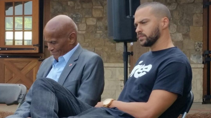 Harry Belafonte and Jesse Williams at Many Rivers to Cross festival in Fairburn, Ga., in October 2016 @ManyRiversFest via Instagram