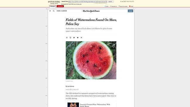 Watermelons on Mars TKTK [DO NOT PUBLISH]