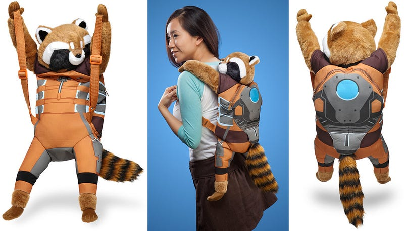 Illustration for article titled The Perfect Groot Costume Starts With This Rocket Raccoon Backpack