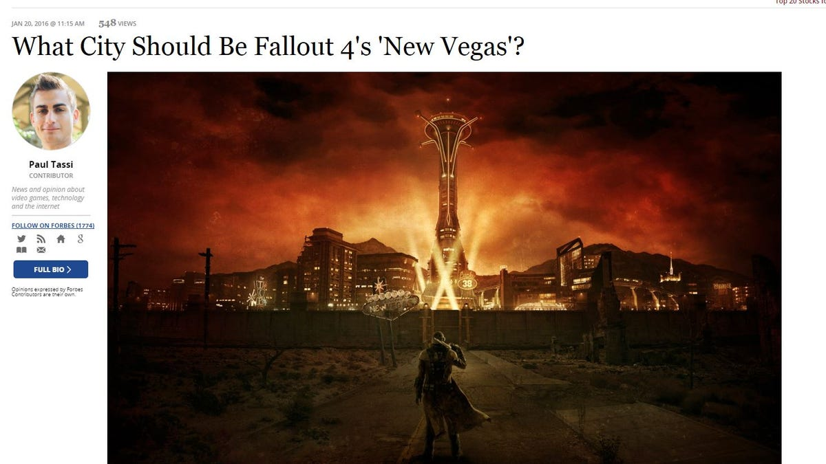 Fans' Intense Love For Fallout: New Vegas Must Be Weird For People
