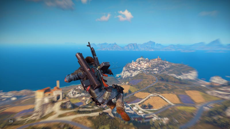 Illustration for article titled Just Cause 3 Mod Gives You An Infinite Grappling Hook
