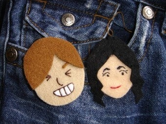 Illustration for article titled Handcrafted Mii Brooches Gives Your Outfit Some Jennifer-Aniston 'Flair'