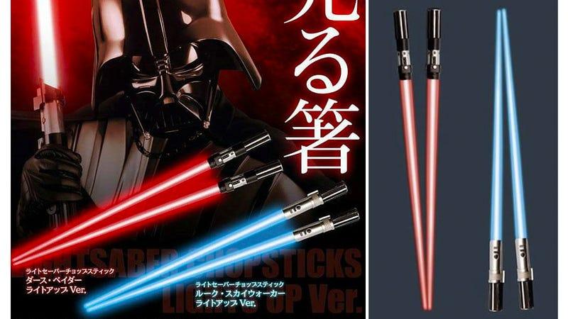 Illustration for article titled Those Lightsaber Chopsticks Now Light-Up