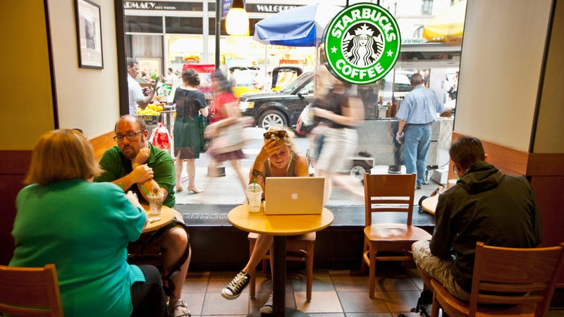 Illustration for article titled Starbucks clarifies customer policy: no sleeping, no drugs