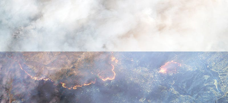 Illustration for article titled Our New High-Res Public Satellite Uses Infrared to See Through Smoke