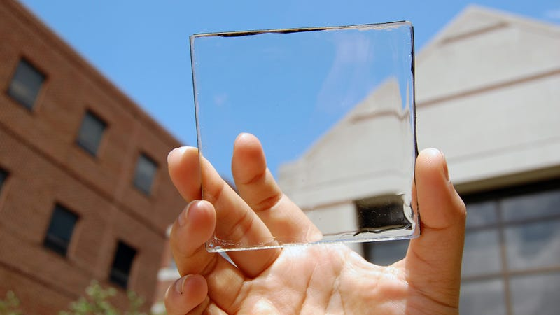 Illustration for article titled New Crystal Clear Solar Cells Could Power Your Smartphone One Day
