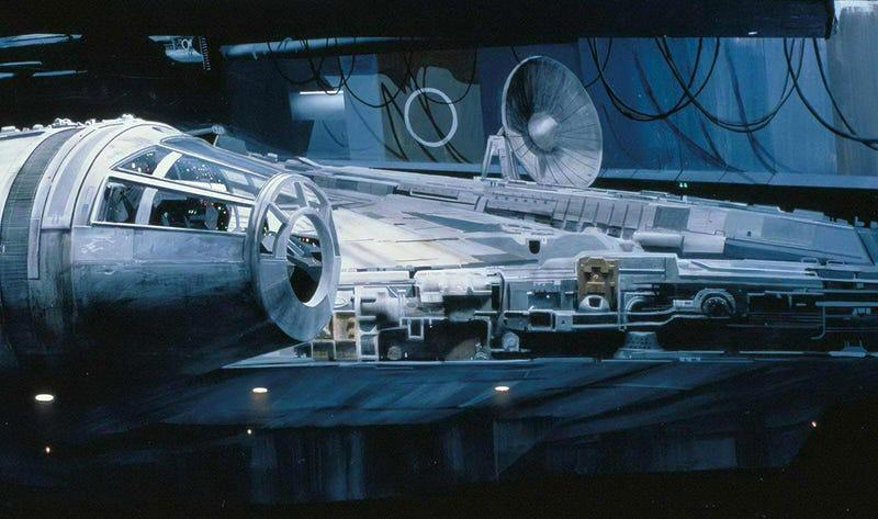 Illustration for article titled Así se hicieron los matte paintings de la primera trilogía de Star Wars