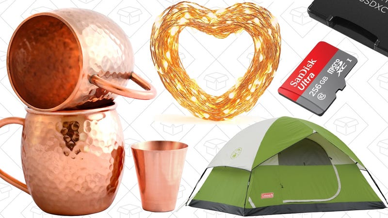 Illustration for article titled Today's Best Deals: Flash Storage Blowout, String Lights, Camping Gear, and More