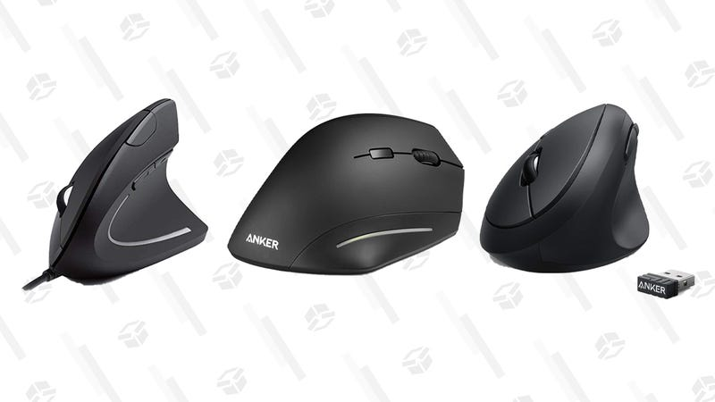 Anker Wireless Vertical Ergonomic Mouse | $17 | Amazon | AKMOUSE3Anker Wired Vertical Ergonomic Mouse | $10 | Amazon | AKMOUSE4Anker 2.4G Wireless Vertical Ergonomic Mouse | $14 | Amazon | LOVEAK78