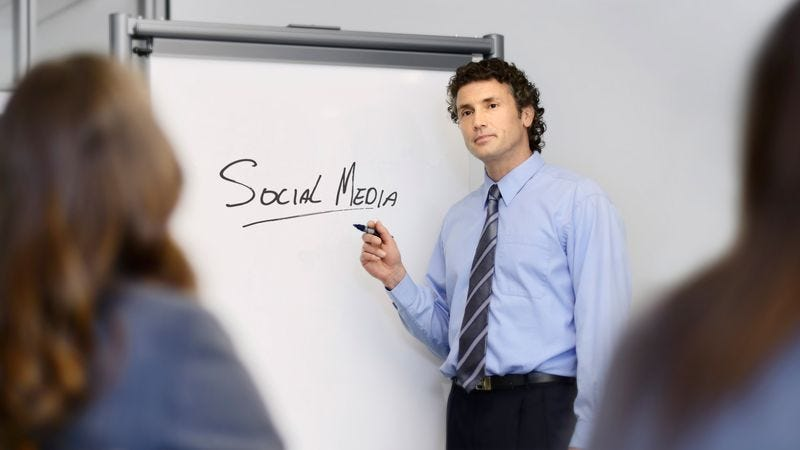 Illustration for article titled Brilliant, Innovative CEO Just Wrote Words 'Social Media' On Whiteboard And Underlined It