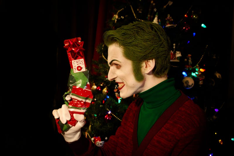 Joker Christmas Ornament.The Joker Wishes You All A Very Scary Christmas