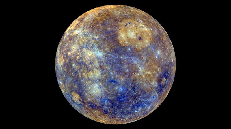 Illustration for article titled A Glowing Image of Mercury Is Packed Full of Information