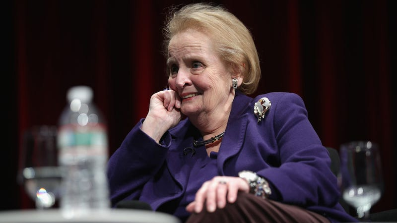"Illustration for article titled Madeleine Albright Tells It Like It Is: ""The World Is a Mess"""