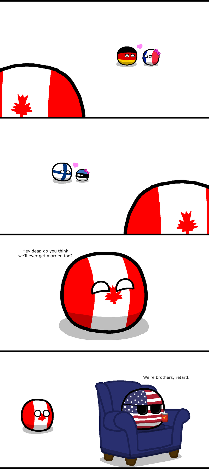 Illustration for article titled Canadaball can not into marriage