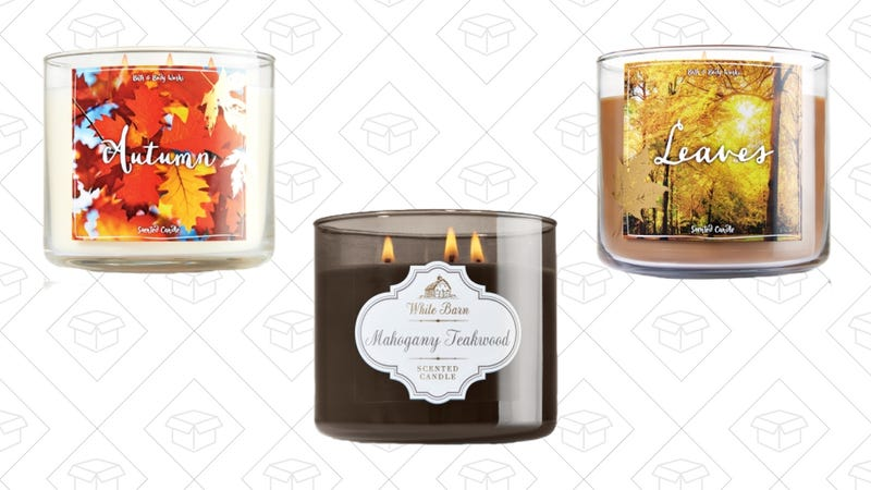 Bath and Body Works 3-Wick Candles, $13
