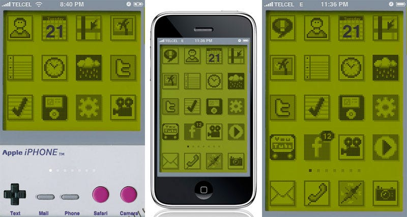 Illustration for article titled iGameboy Theme: If the iPhone Were Around Two Decades Ago