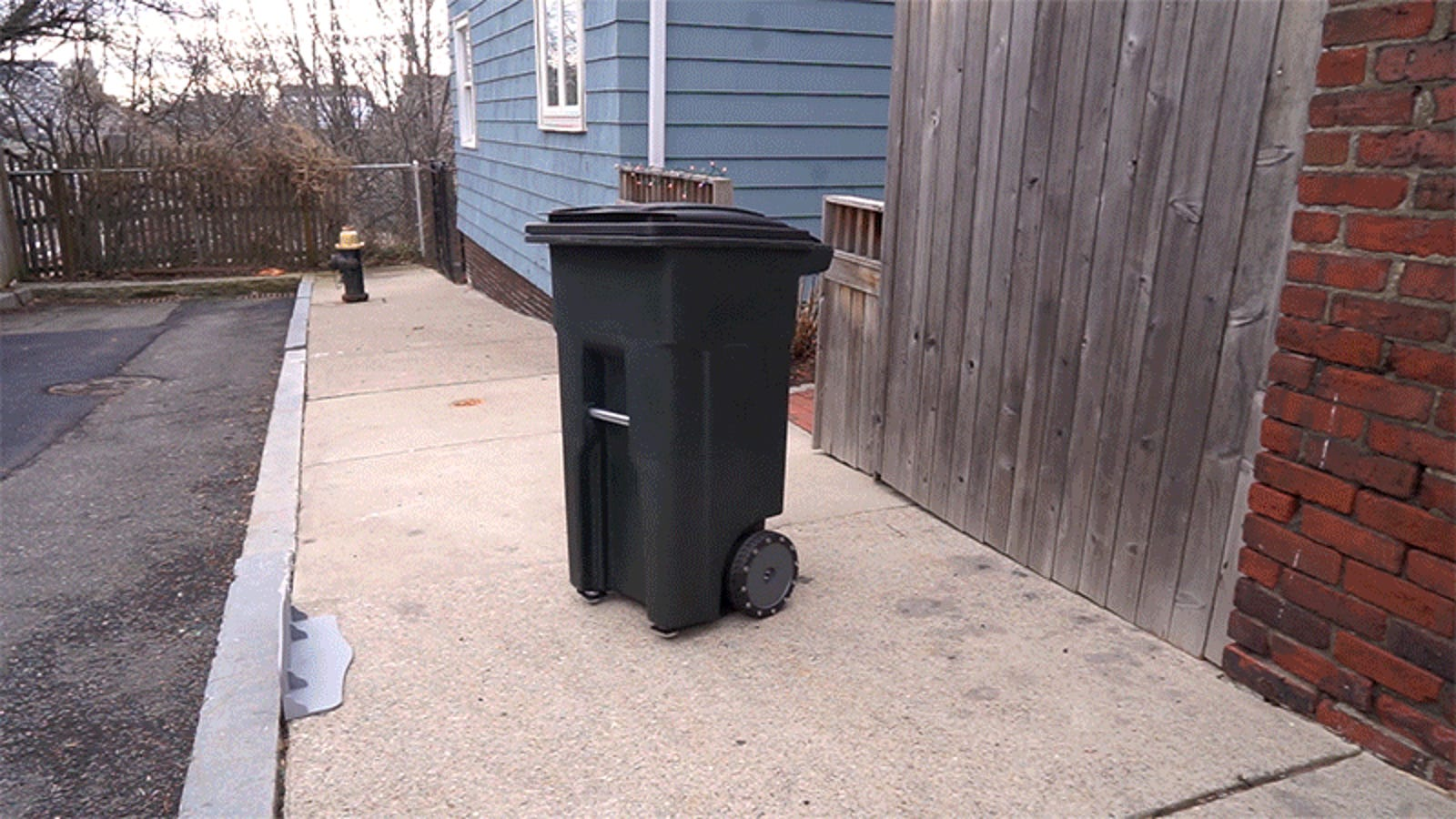 This Self-Driving Garbage Can Remembers to Take the Trash to the Curb For You