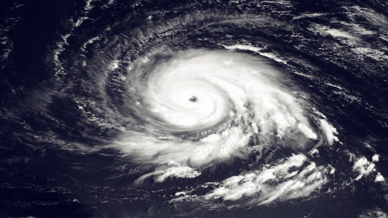 A 2010 satellite image of Hurricane Igor, a Category 4 storm that eventually battered Newfoundland. Image via Getty.