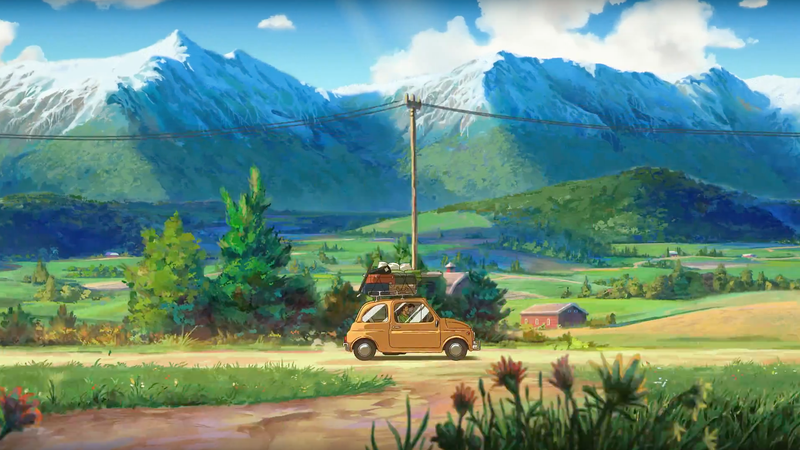 Illustration for article titled This Oregon Tourism Ad Is A Glorious Tribute To Studio Ghibli
