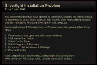 Illustration for article titled Netflix, Chrome and Silverlight have fallen out on my PC...HALP!