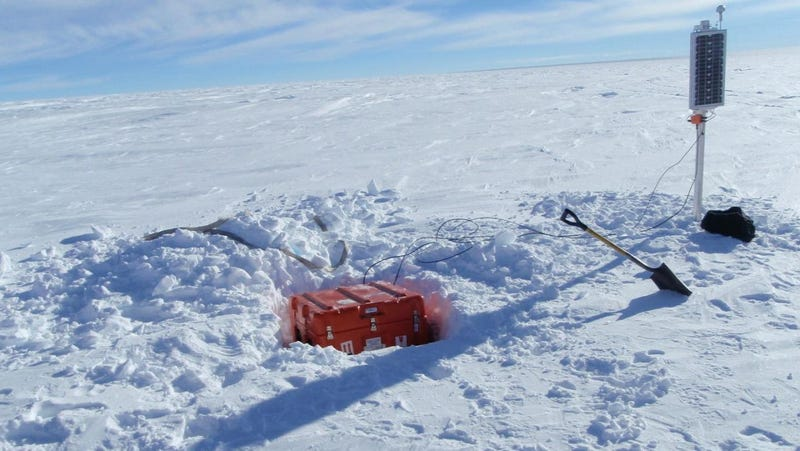 One of the monitors in the East Antarctic seismic array.