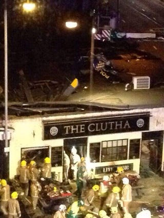 Illustration for article titled police helicopter crashes into Glasgow pub