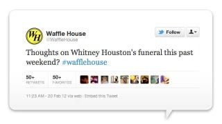 Illustration for article titled The Grossest Corporate Tweet of the Week Goes to... Waffle House!