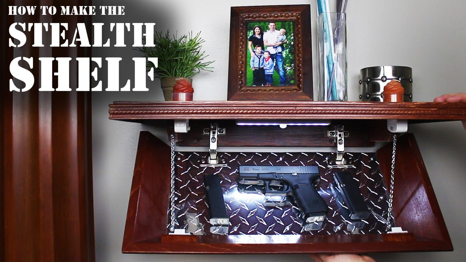 Hide your valuables in this diy secret compartment shelf for Diy hidden compartment
