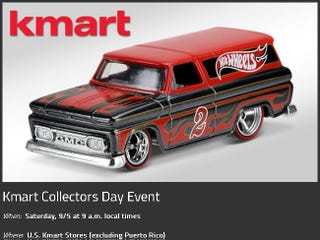 Illustration for article titled Kmart HWs Collector's Day Sept 5th!