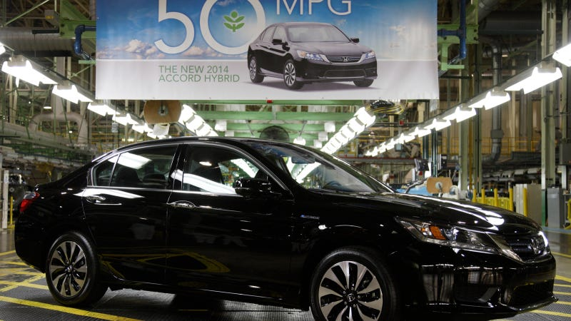 Illustration for article titled Meet the 50 MPG Rated Honda Accord Hybrid
