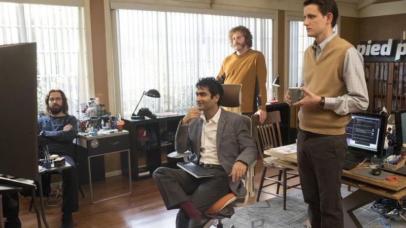 Martin Starr, Kumail Nanjiani, T.J. Miller, Zach Woods (Image: HBO)