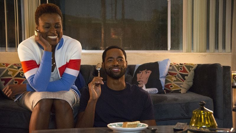 Issa Rae (left) and Jay Ellis