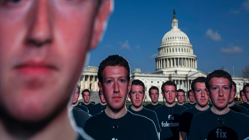 Illustration for article titled 100 Cardboard Mark Zuckerberg Cutouts Descend on the Capitol and Jezebel Simply Could Not Be Hornier