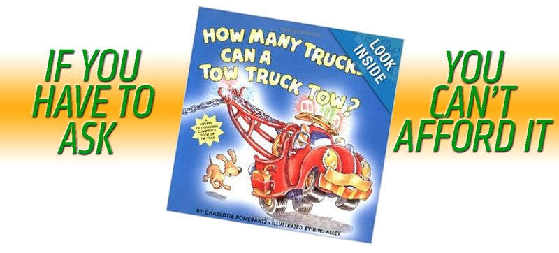 Illustration for article titled Why Does An 80's Children's Book About Tow Trucks Cost $400?