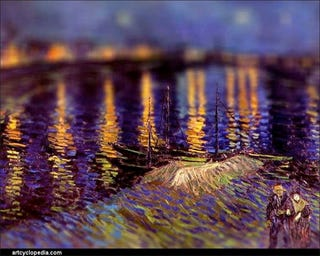 Illustration for article titled Van Gogh's Paintings Turned Into Tilt-Shift Photography