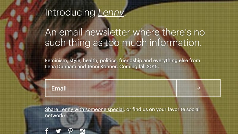 Illustration for article titled Lenny, Lena Dunham's Forthcoming Newsletter, Is 'Goop Meets Grantland'