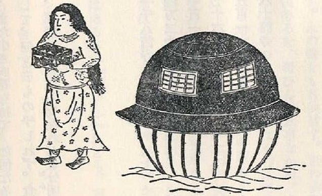 A Nineteenth Century Japanese Folk Tale Still Inspires UFO-Believers