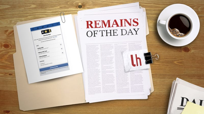 Illustration for article titled Remains of the Day: Facebook Now Supports USB Security Keys