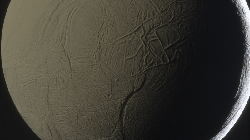 Illustration for article titled See Saturn's weird moon Enceladus in breathtaking detail!
