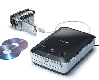 Illustration for article titled Canon Portable Burner Transfers High Def AVCHD to DVD Without a Computer